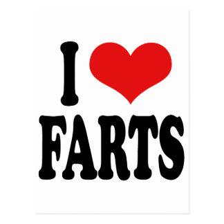 I Love Farts Postcard