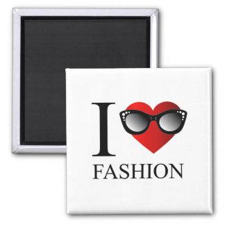 I love fashion 2 inch square magnet