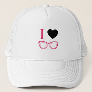 I love fashion eye wear trucker hat