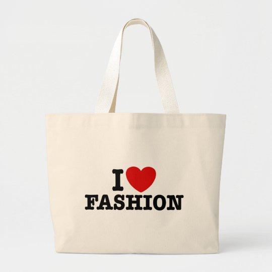 I Love Fashion Large Tote Bag