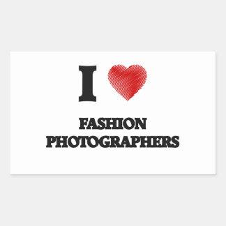 I love Fashion Photographers (Heart made from word Rectangular Sticker