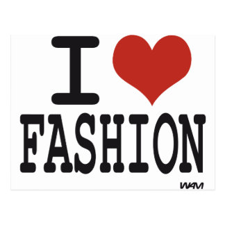 I love Fashion Postcard
