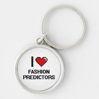I love Fashion Predictors Silver-Colored Round Keychain