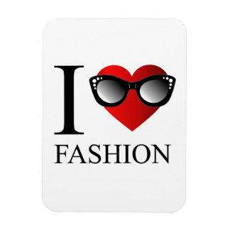 I love fashion rectangular photo magnet