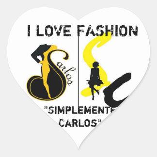 I Love Fashion Simplemente Carlos Heart Sticker