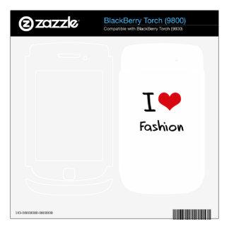 I Love Fashion BlackBerry Decal