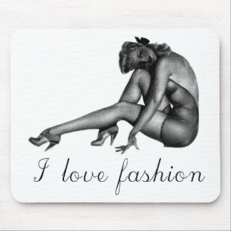 I love Fashion Vintage Design! Mouse Pad