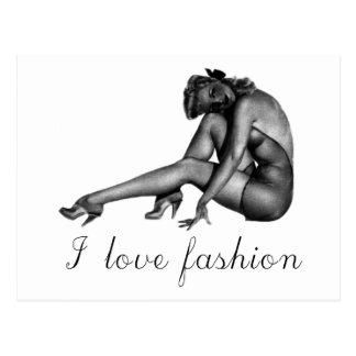 I love Fashion Vintage Design! Postcard