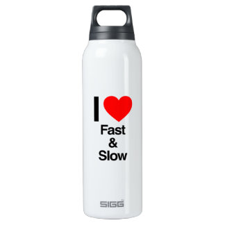 i love fast and slow 16 oz insulated SIGG thermos water bottle