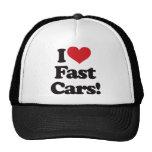 I Love Fast Cars! Mesh Hats