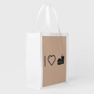 I Love Fast Food Grocery Bag