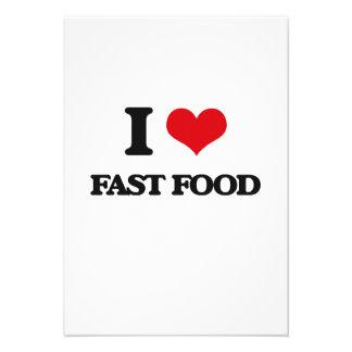 I Love Fast Food Invitations