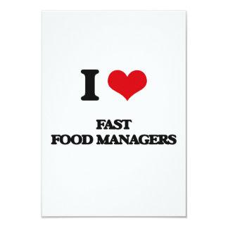I love Fast Food Managers Custom Invites