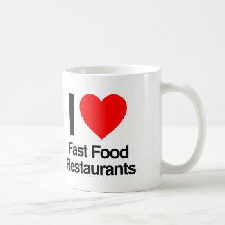 i love fast food restaurants coffee mug
