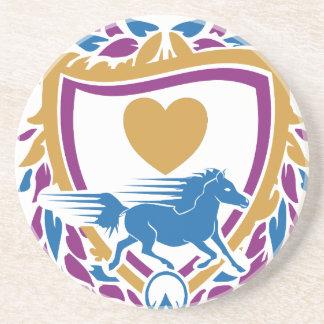 I Love Fast Horses Crest Coaster