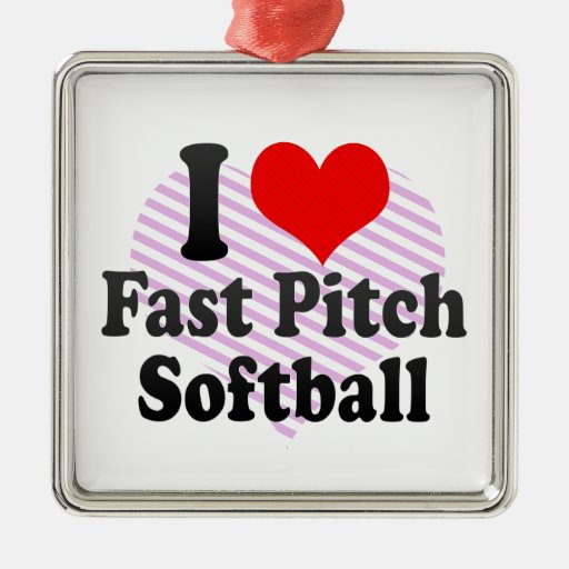 I love Fast Pitch Softball Christmas Ornaments