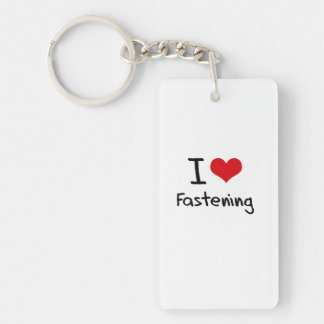 I Love Fastening Key Chain
