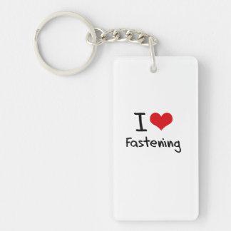 I Love Fastening Acrylic Keychains