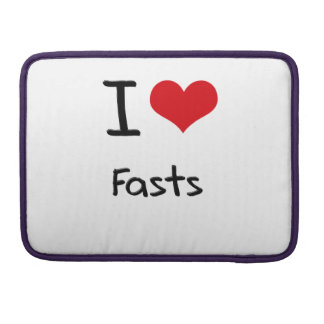 I Love Fasts MacBook Pro Sleeves