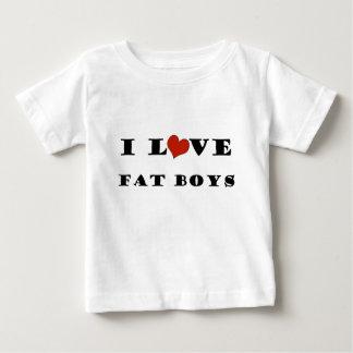 I Love Fat Boys Baby T-Shirt