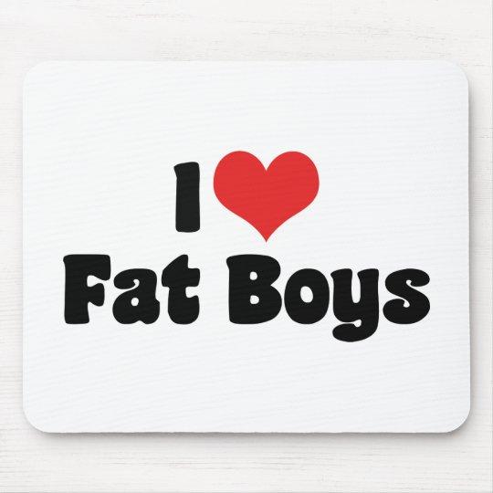 I Love Fat Boys Mouse Pad