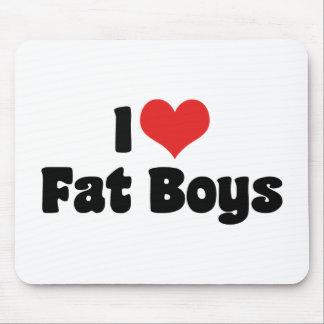 I Love Fat Boys Mousepad
