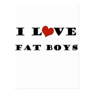 I Love Fat Boys Postcard