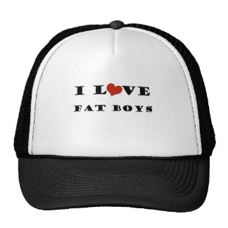 I Love Fat Boys Trucker Hat