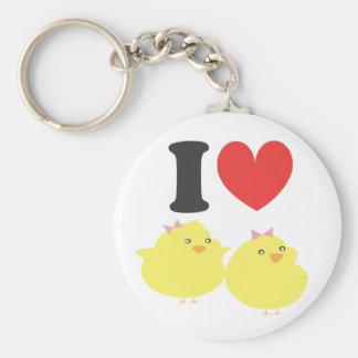 I Love Fat Chicks Keychain