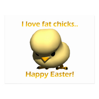I Love Fat Chicks Postcard