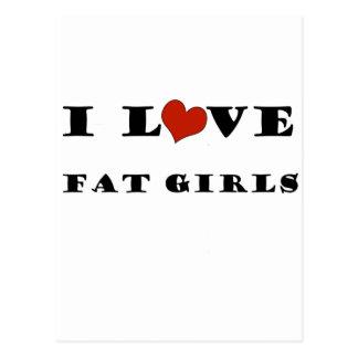 I Love Fat Girls Postcard