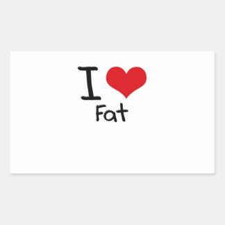 I Love Fat Sticker