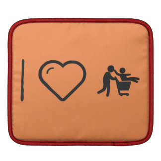 I Love Father Groceries iPad Sleeves