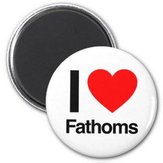 i love fathoms fridge magnet