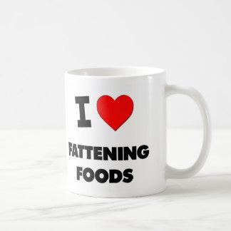 I Love Fattening Foods Classic White Coffee Mug