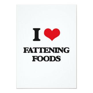 I love Fattening Foods 5x7 Paper Invitation Card
