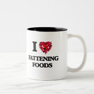 I Love Fattening Foods Two-Tone Coffee Mug
