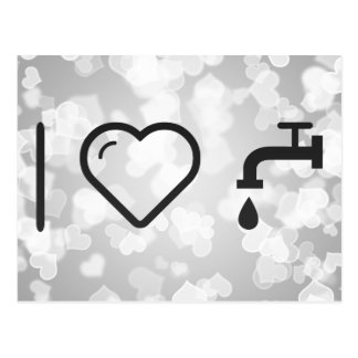 I Love Faucets Postcard