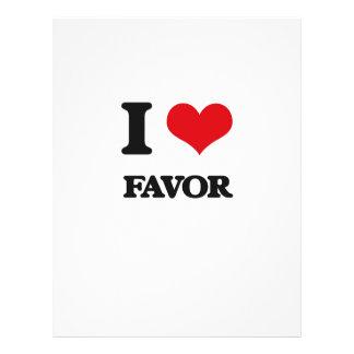 I love Favor Full Color Flyer