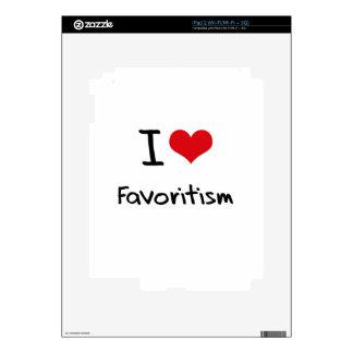 I Love Favoritism iPad 2 Decal