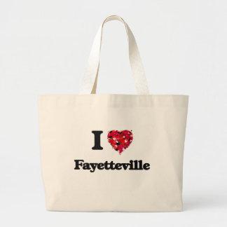 I love Fayetteville North Carolina Jumbo Tote Bag