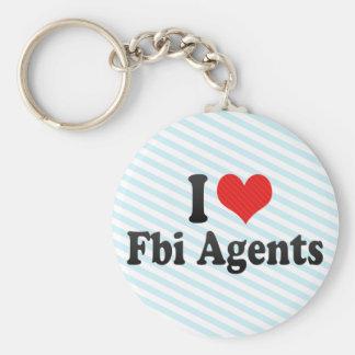 I Love Fbi Agents Keychain