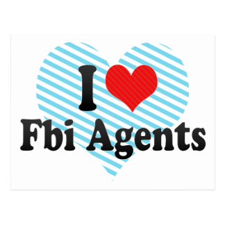 I Love Fbi Agents Postcard