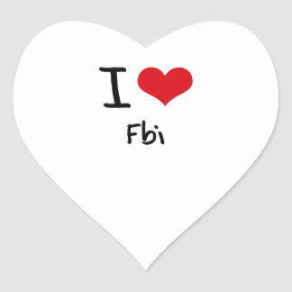 I Love Fbi Stickers