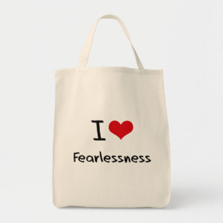 I Love Fearlessness Grocery Tote Bag