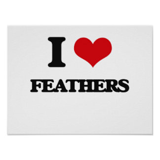 I Love Feathers Posters