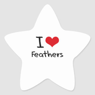 I Love Feathers Star Sticker