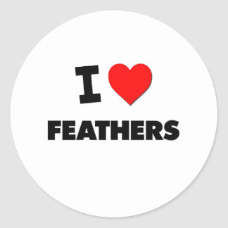 I Love Feathers Sticker