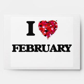 I Love February Envelopes