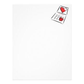 I Love February Letterhead Design